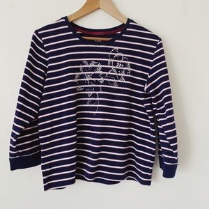 Alia Line pattern Decorated Long sleeves shirt